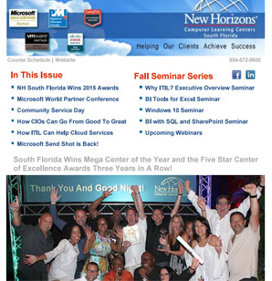 New Horizons Miami, Fort Lauderdale, West Palm Beach August 2015 Newsletter